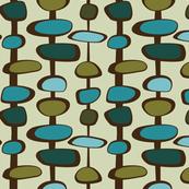 Mid-Century Modern Bead (teal palette)