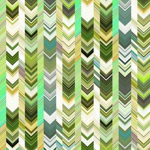 CRAZY CHEVRONS ARROWS MOSS GREEN