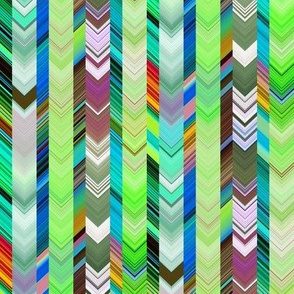 CRAZY CHEVRONS ARROWS BRIGHT GREEN NATURE