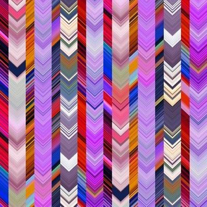 CRAZY CHEVRONS ARROWS PURPLE AUTUMN