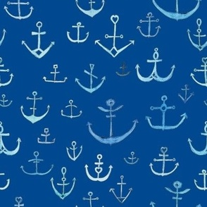 Blue Anchors on navy