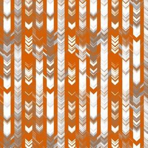 CRAZY CHEVRONS ARROWS AZTEC TRIBAL CHALK CHARCOAL AUTUMN