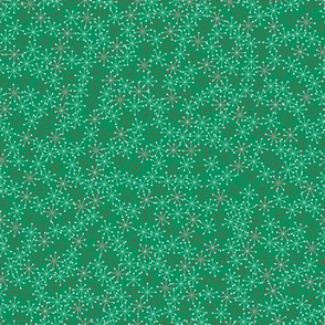 Atomic Snowflakes on Green