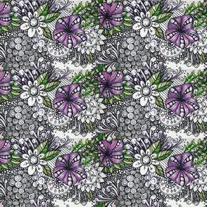 violet zentangle