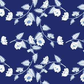 Blue Chinoiserie Vines Large