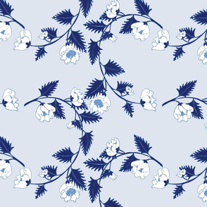 Pale Blue Chinoiserie Vines Large