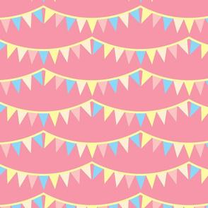 Carousel Bunting Pink