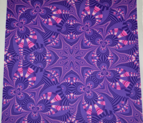 Purple and Pink Fractal Star Web
