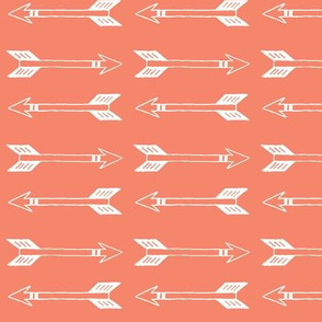 Coral Background White Arrows