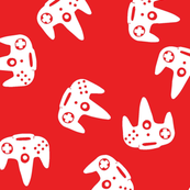 N64 Controller Nintendo Red