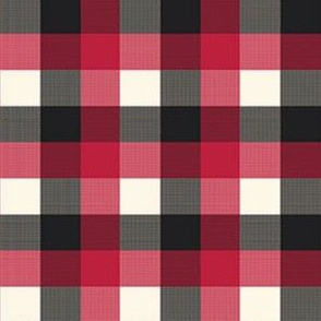 Buffalo Plaid black Red Grey Checker Lumberjack Flannel