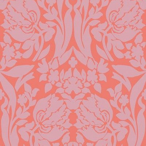 damask frances lilac and guava