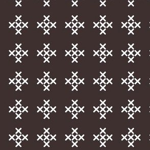 Dark Gray Cross-stitch Pluses