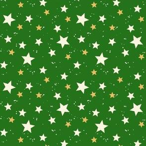 Christmas Stars Green
