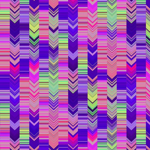 CRAZY CHEVRONS ARROWS WISE AND BRIGHT ANCIENT WISDOM PURPLE GRASS