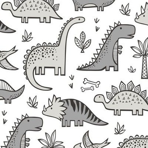 Dinosaurs in Grey