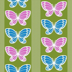 Butterflies - Flying Stripes (Light Green)
