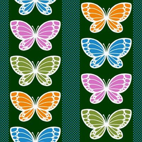 Butterflies - Flying Stripes (Dark Green)