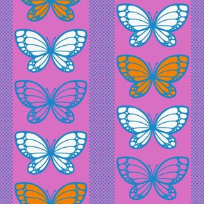 Butterflies - Flying Stripes (Pink)