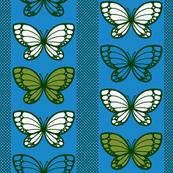 Butterflies - Flying Stripes (Blue)