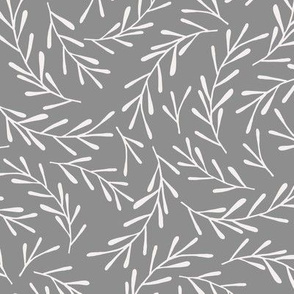 Dark Grey Sprigs
