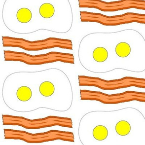 Dean's Bacon and Eggs on White