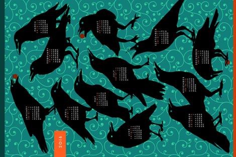 2016 Raven Tea Towel Calendar