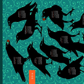 2016 Raven Tea Towel Calendar