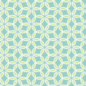 Aqua and Green Chain Pattern