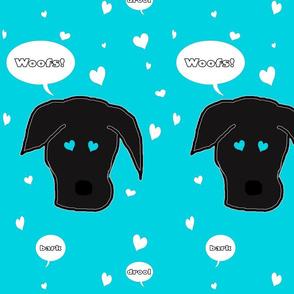 Black Lab Dog of Hearts