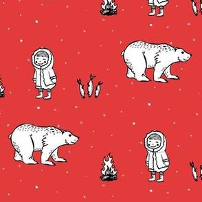 Eskimo Fab Red