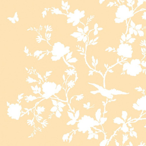 Ames Chinoiserie in buttercup yellow