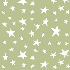 stars on green