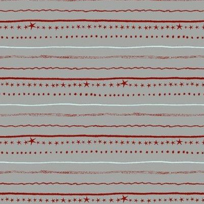stars and stripes - red grey & pale blue