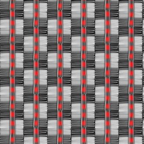 Checkerboard Stripes Large