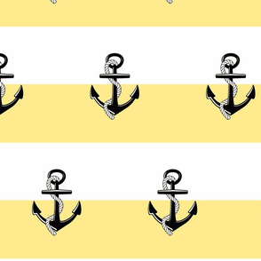 Anchor Stripes -Large yellow