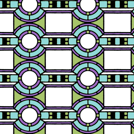 Art_Deco Circles and Squares