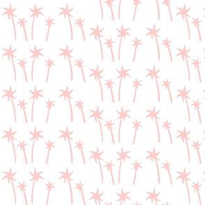 palms White - MEDIUM pink