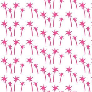 palms White - MEDIUM hot pink
