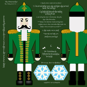 Nutcracker Green Cut and Sew