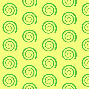 Dean's Green Swirl on Yellow