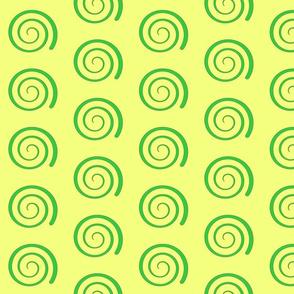 Dean's Green Swirl on Yellow
