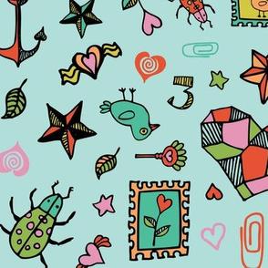 Beetle Doodle - Peach