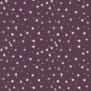 mini stars on deep purple