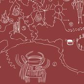 Twin Peaks Owl Cave Petroglpyh Map