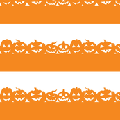 Rows of Jack O Lanterns