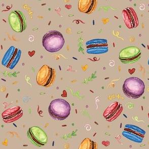 Watercolor Macaron's party Cream- Soraya Pamplona