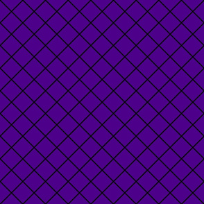 Diamonds - 2 inch - Black Outlines on Dark Purple (#4D008a)