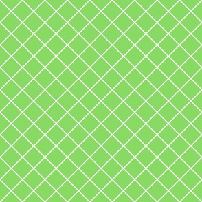 Diamonds - 2 inch - White Outlines on Pale Green (#89DA65)