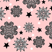 Stars and diamonds Pink